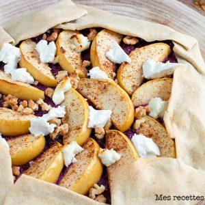recette healthy-quiche de chou-rouge-chevre-fromage-pomme