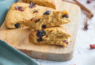 recette healthy-scone Maison-vegan-sans oeuf-sans lait-cranberrie