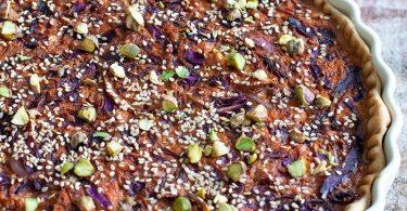 recette healthy-quiche de chou rouge-carotte-epice