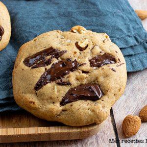 recette healthy-cookie noisette-amande-chocolat-biscuit