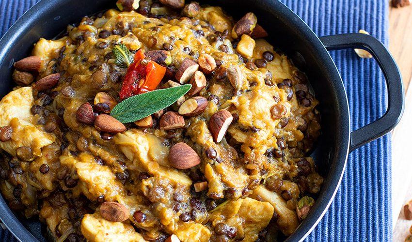 recette healthy-dal de lentille-poulet-epice