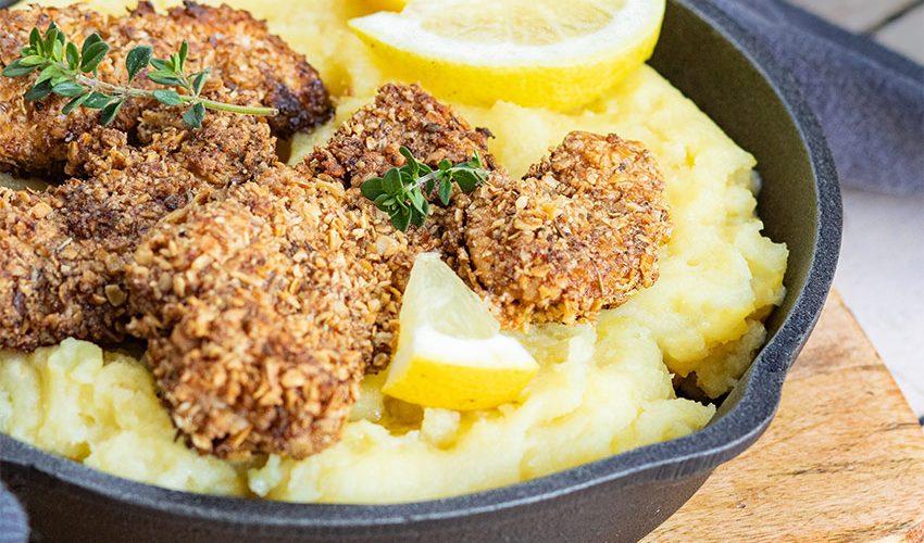 recette healthy-nuggets de poulet-purée au parmesan-nuggets-poulet pane