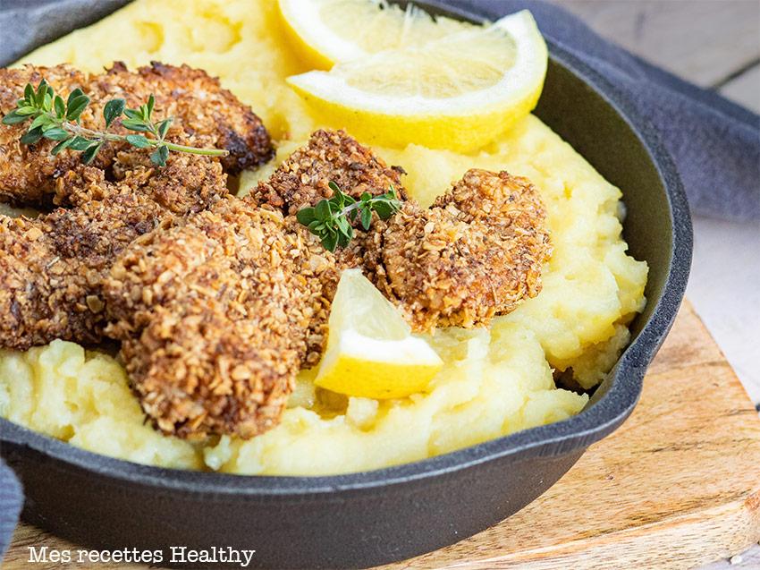 Nuggets de poulet et purée au parmesan