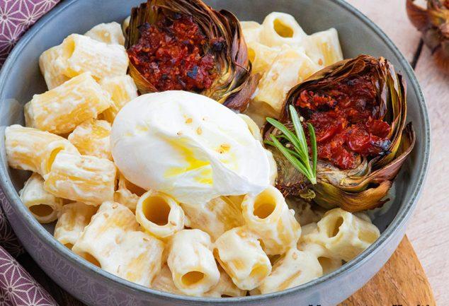 recette healthy-rigatoni-parmesan-artichaud-fromage