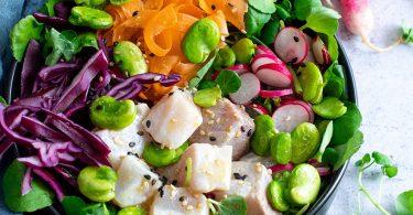 recette healthy-poke bowl-then cru-poisson cru-crudite-legume-legumineuse-leger