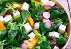 recette Healthy-salade à l'orange-radis-asperges-feve
