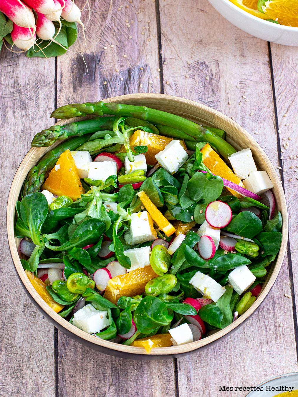 Salade à l'orange et aux asperges