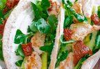 tacos au poulet et chèvre rapide