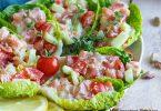 recette healthy-tartare de saumon-concombre-tomate-salade