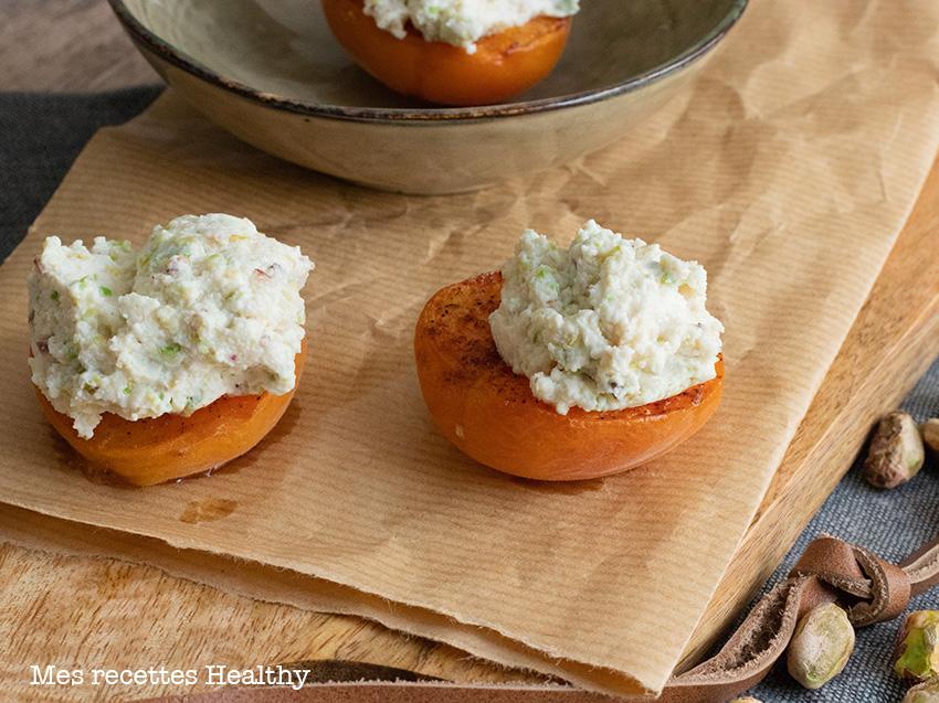 Abricot farci au fromage frais | Mes recettes Healthy