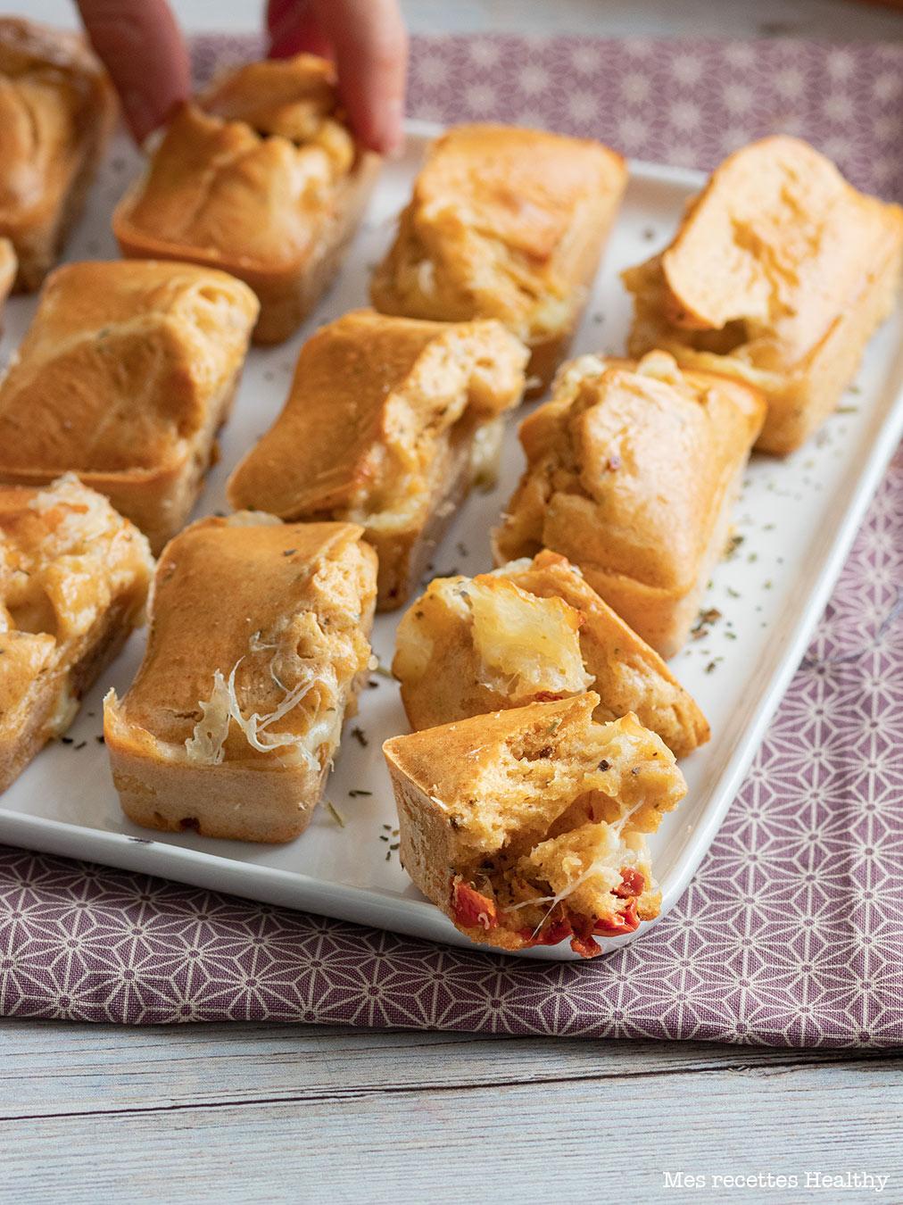 recette healthy-mini cake-aero-aperitif-mozzarella-mozza-tomate