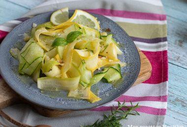 recette healthy-carpaccio de courgette-citron-parmesan-salade-crudité