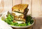 recette healthy-croque-monsieur-pain campagne-mozzarella-poulet-pesto maison