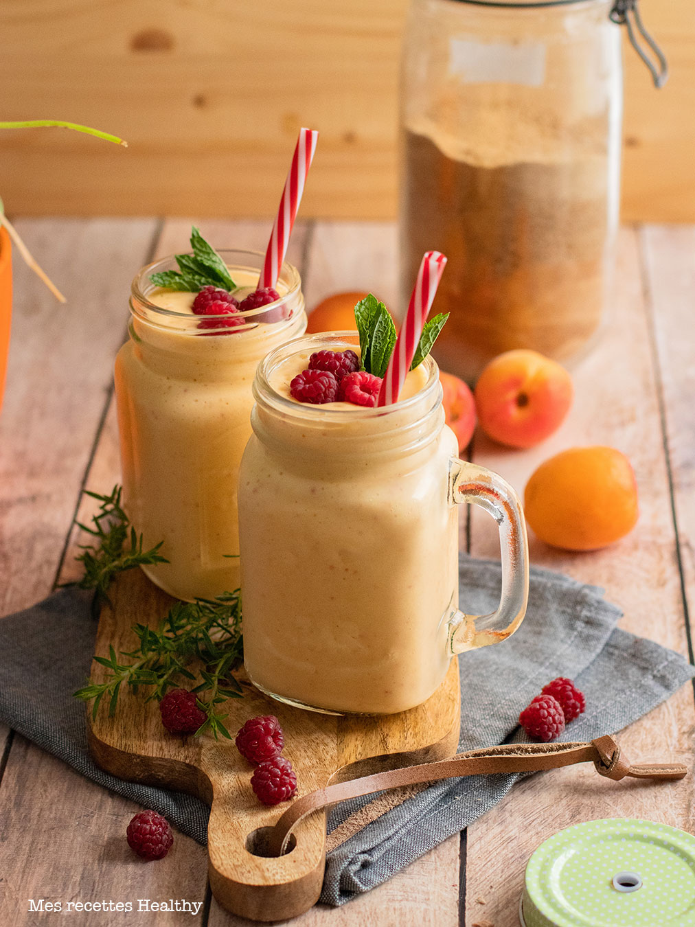 recette healthy-milkshake mangue Abricot-smoothie-fruit-glace