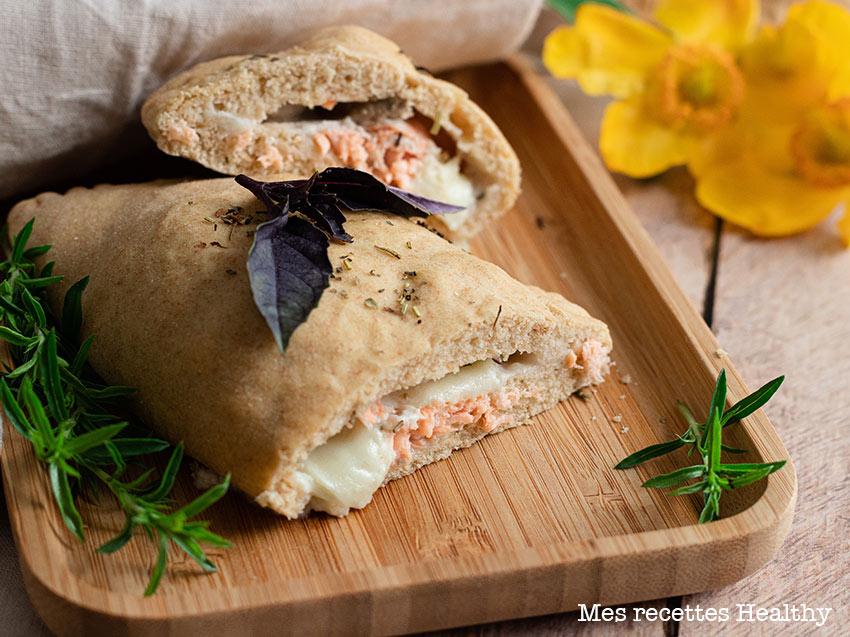 recette healthy-mini fougasse-pizza-saumon-mozzarella