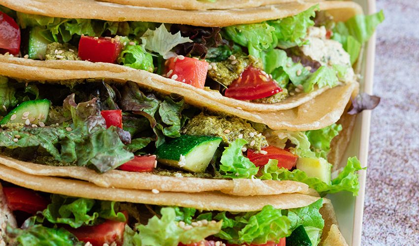 recette healthy-quesadillas maison-poulet mariné-pesto-wrap