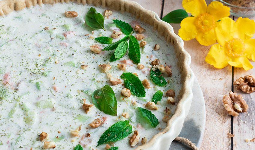 recette healthy-tarte tzatziki-concombre-saumon-grec