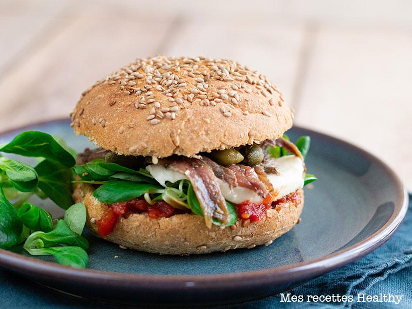 recette healthy-anchois-capre-burger-tomate-sandwich