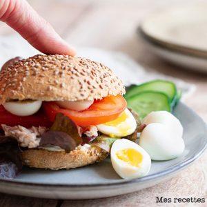 recette healthy-burger aux crudités-oeuf-leger-facile et rapide
