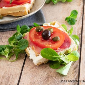 recette healthy-gaufre-tartine salée-tomate