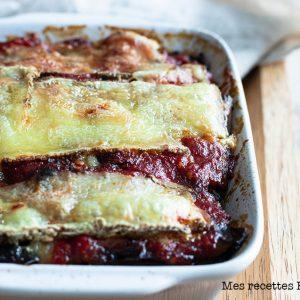 recette ghealthy-gratin d'aubergine-champignon-tomme