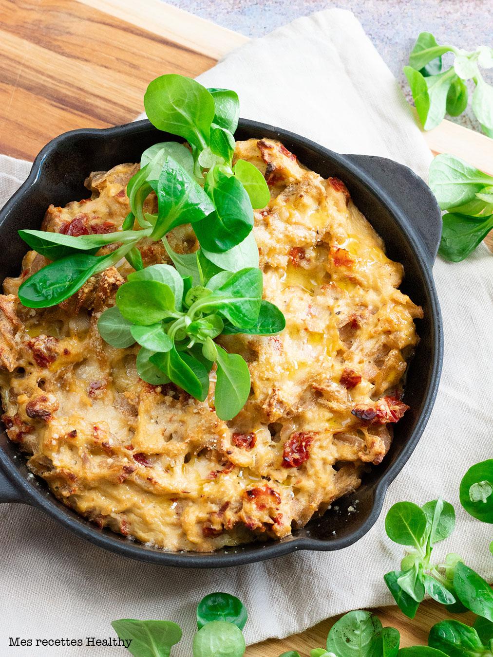 recette healthy-gratin de pâte-gratin au thon-lever-rapide-facile