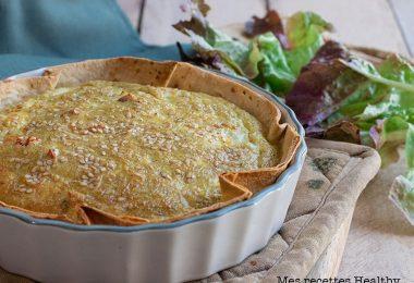 recette healthy-tarte wrap-quiche wrap-pesto-mozzarella-tomate confite
