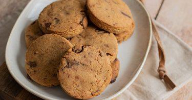 recette healthy-sable au beurre de cacahuète-peanut butter-chocolat-cookie-biscuit-