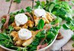 recette healthy-salade de chèvre-gaufre salée-fromage