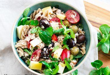 recette healthy-salade au thon-tomme-fromage-crudite-salade légère