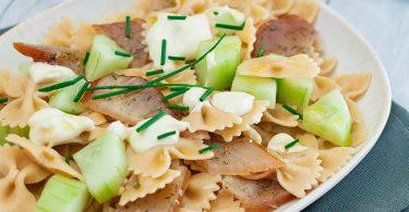 recette healthy-pâte au thon fume-concombre-fromage frais