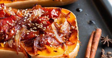 recette healthy-butternut farsi-chutney oignon-épicé