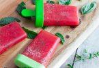 recette healthy-batonnet glace-pastèque-menthe-glace à l'eau-sorbet