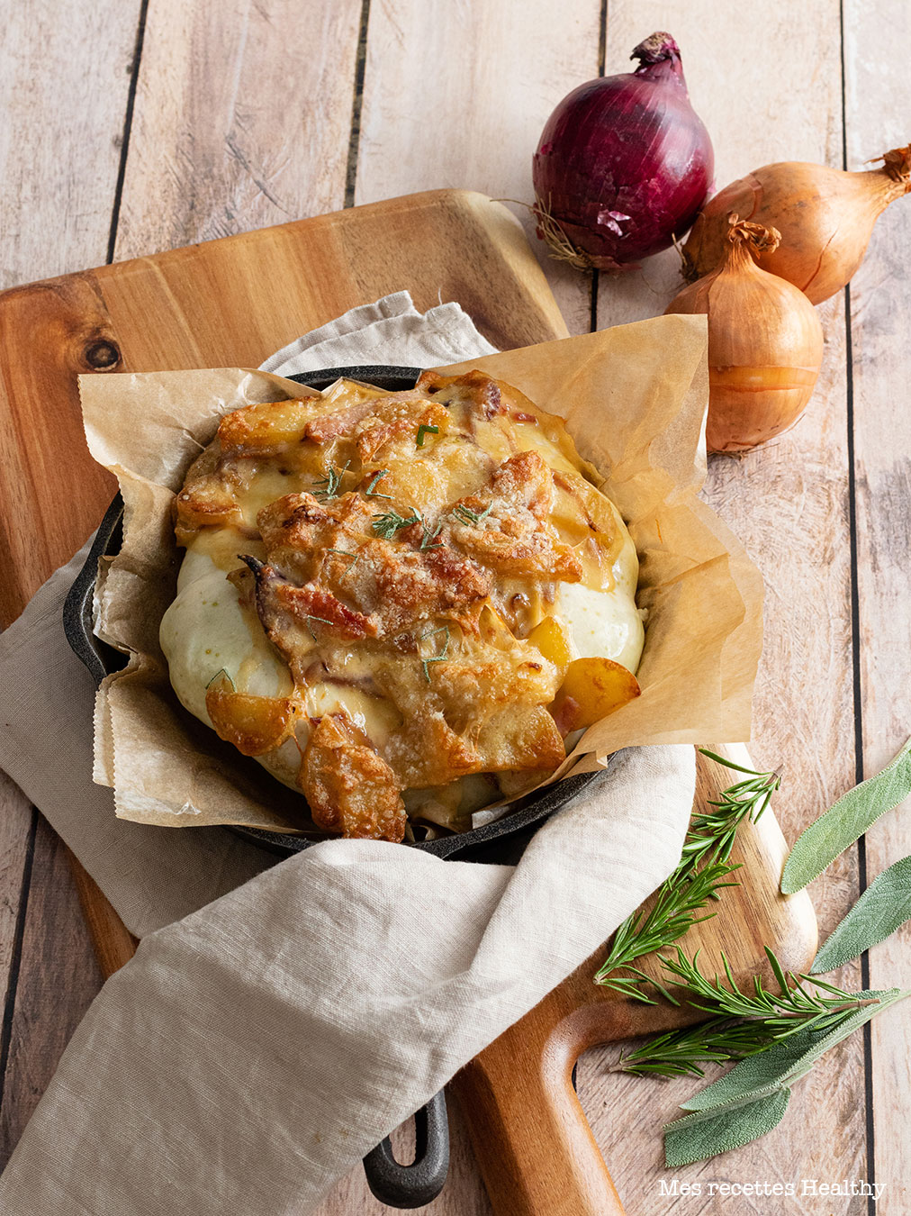 recette healthy-patisson farci-fromage-tomme-bacon-tartiflette-fromage