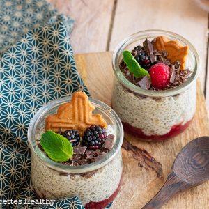 recette healthy-chia pudding-confiture-ricotta-dessert