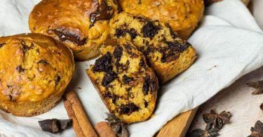 recette healthy-muffin à la patate douce-pépite de chocolat-moelleux