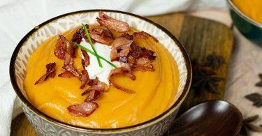 recette healthy-soupe à la patate douce-ricotta-potage-legume