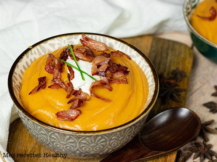 Soupe de patate douce et ricotta aux épices