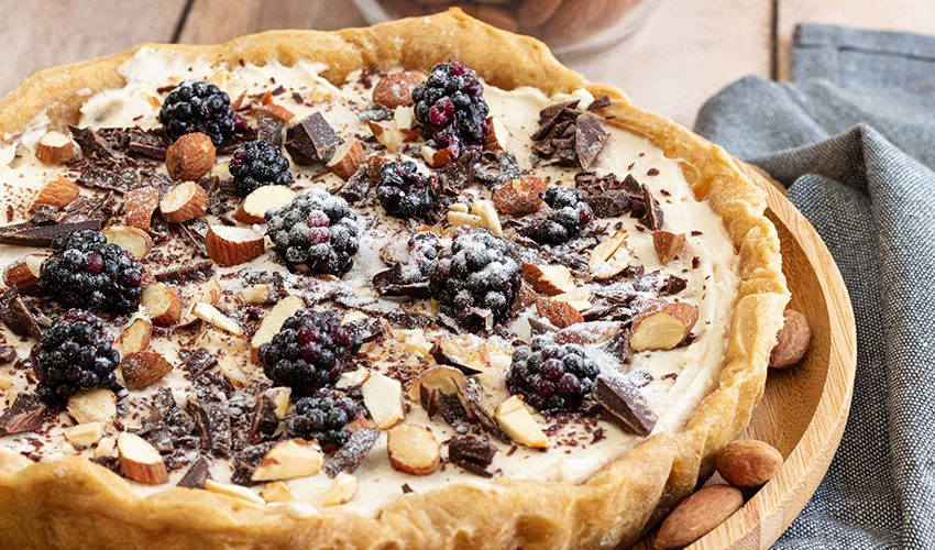 recette healthy-tarte cheesecake-vanille-chooclat-amande-fromage frais