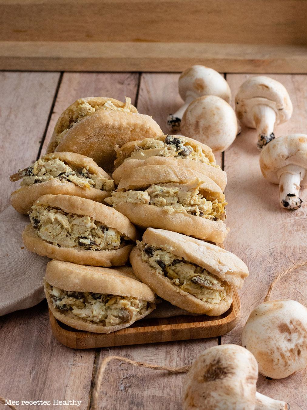 recette healthy-batbout farce-ricotta-champignon-poulet-fait maison