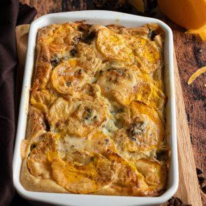 recette healthy-gratin de butternut-roquefort-fromage-courge-automne