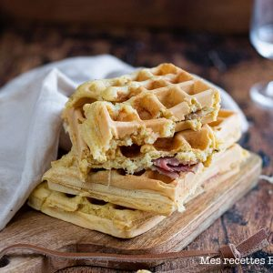 recette healthy-gaufre-croque monsieur-jambon-fromage-sandwich