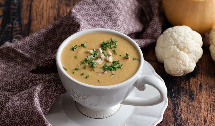 recette healthy-soupe de lentille-chou Fleur-butternut-potage-velouté