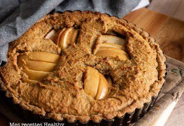 recette healthy-tarte bourdaloue-pomme-amande-creme