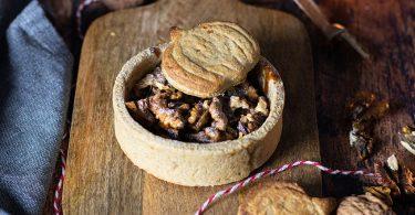 recette healthy-tartelette aux noix-tarte aux noix-caramel-halloween-biscuit sablé-sans beurre