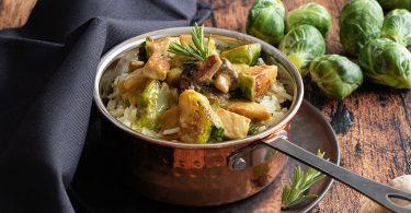 recette healthy-choux de bruxelle-tempeh-vegetarien-sauce moutarde-sans lactose