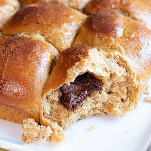 recette healthy-brioche fourrée à la pâte à tartiner-chocolat-noisette-boulangerie
