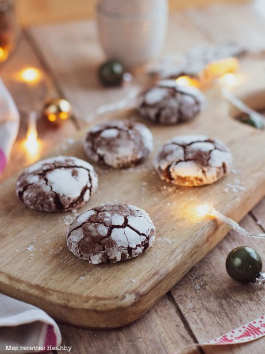 recette healthy-crinkle chocolat-biscuit Maison-noel-fete