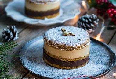 recette healthy-entremets chocolat-vanille-génoise