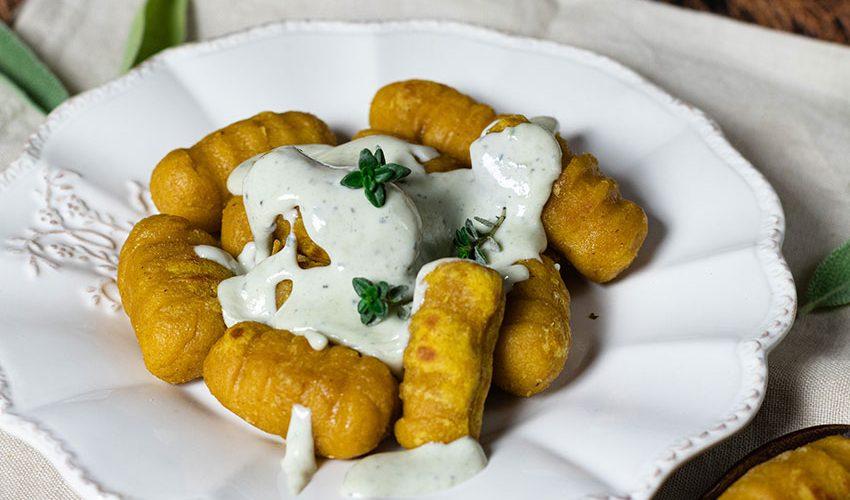recette healthy-gnocchis à la patate douce-sauce roquefort